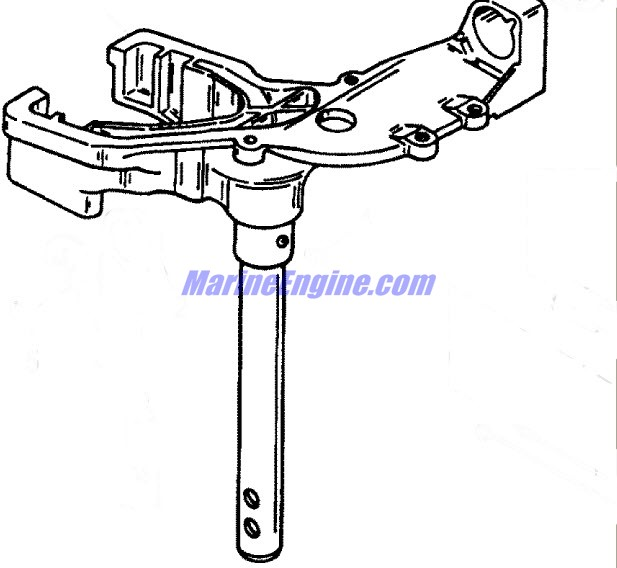 Mercury Marine 15 HP Swivel Head & Steering Handle Parts.