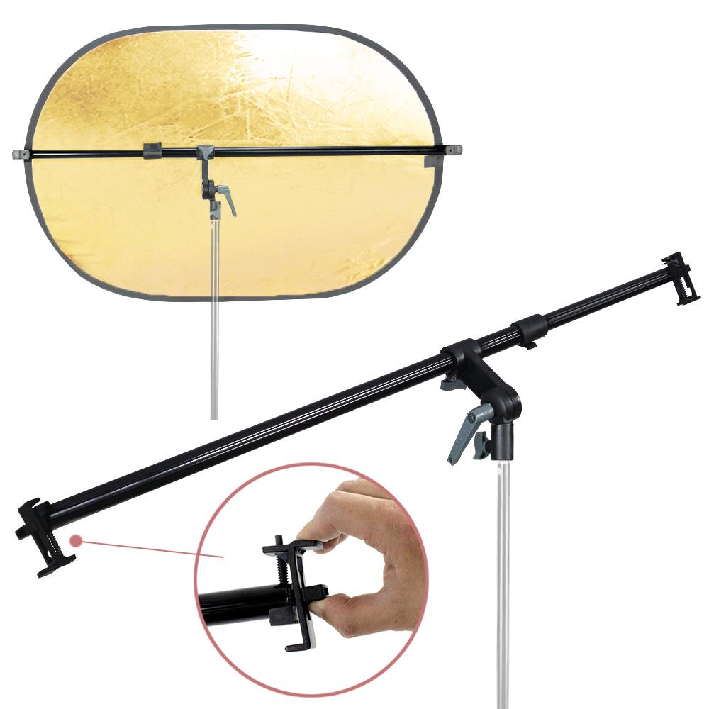PRO Studio Photo Holder Bracket Swivel Head Reflector Disc Arm.