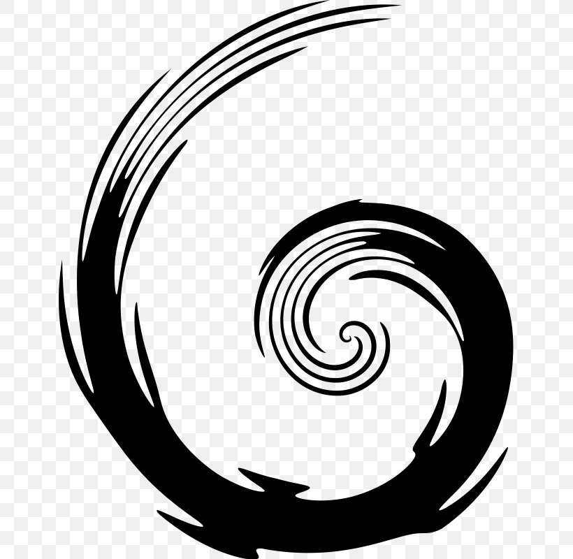 Spiral Clip Art, PNG, 652x800px, Spiral, Black And White.