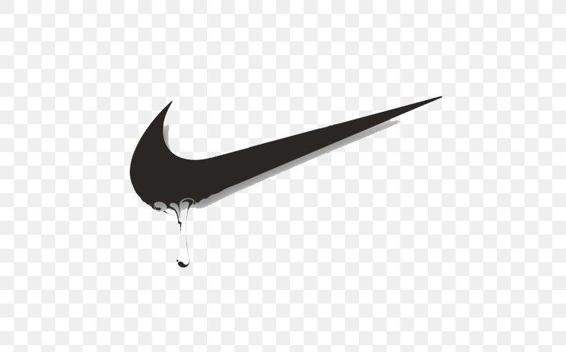 Nike Swoosh Logo, PNG, 510x510px, Nike, Black, Black And.