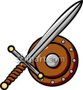 Sword and Shield Clip Art Royalty Free Clipart Picture.