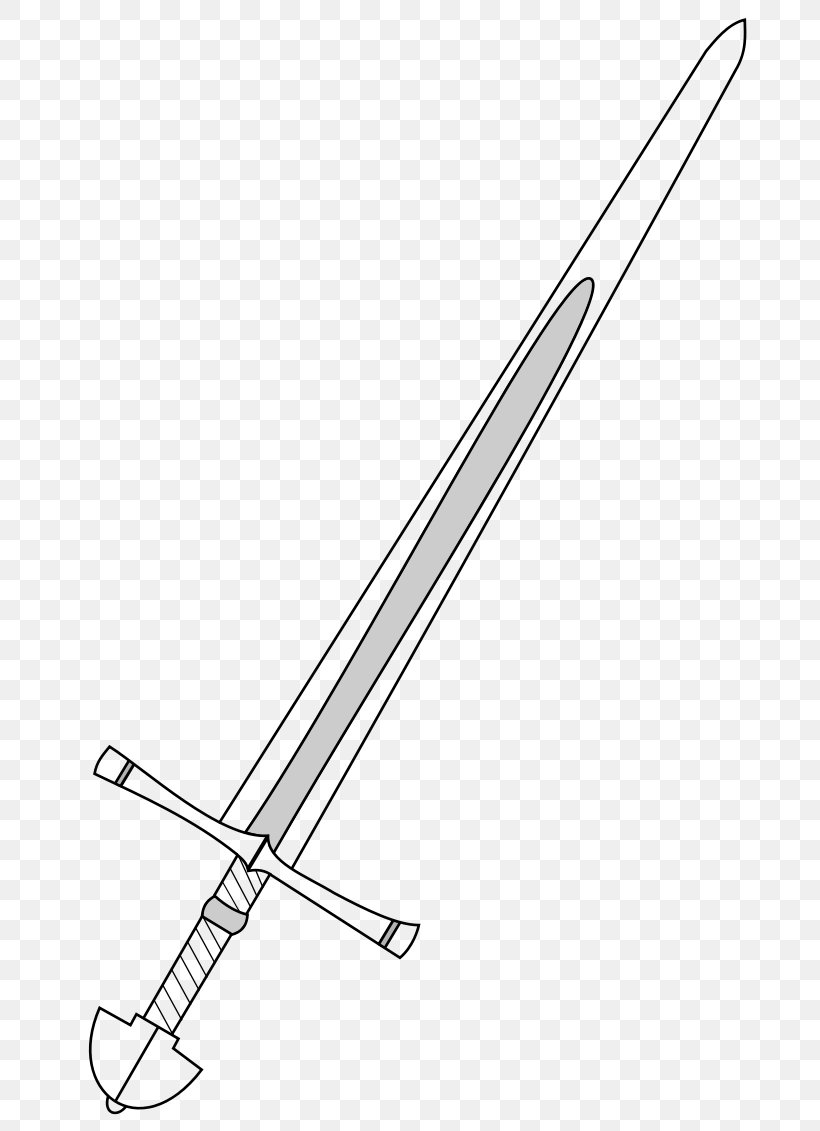 Knightly Sword Classification Of Swords Weapon Clip Art, PNG.