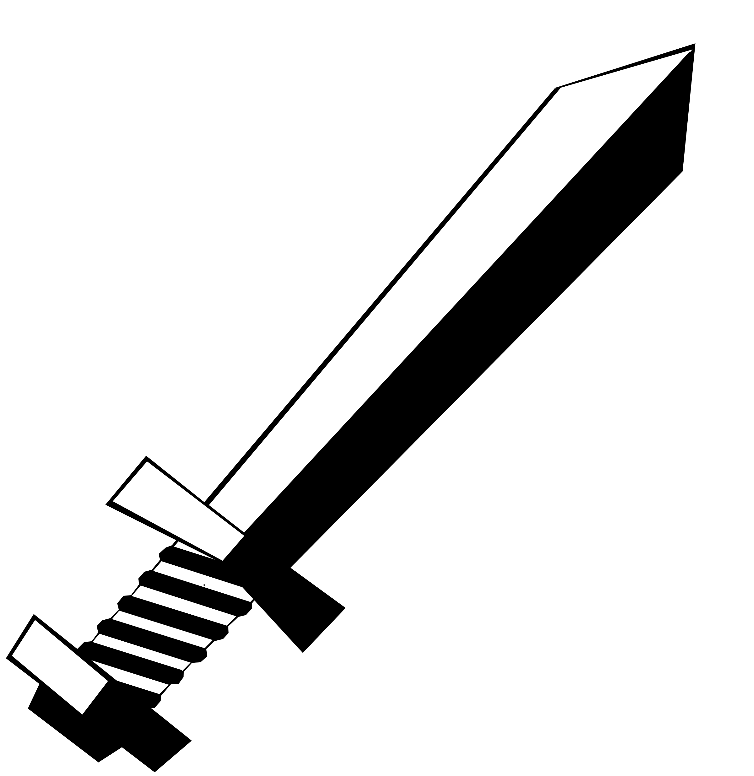 Sword clipart black and white 2 » Clipart Station.