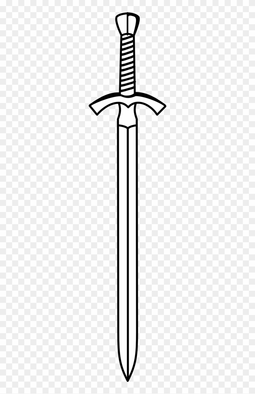 Sword Clipart Black And White.