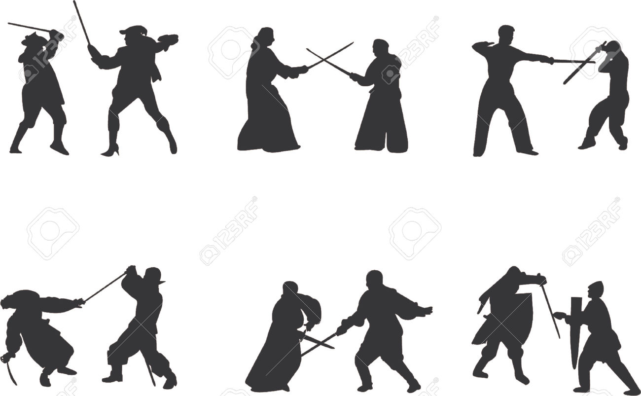 Sword Fight Vector Royalty Free Cliparts, Vectors, And Stock.
