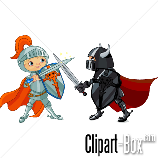 Boy sword fight clipart.
