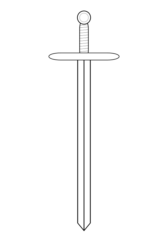 Download Free png sword line art.