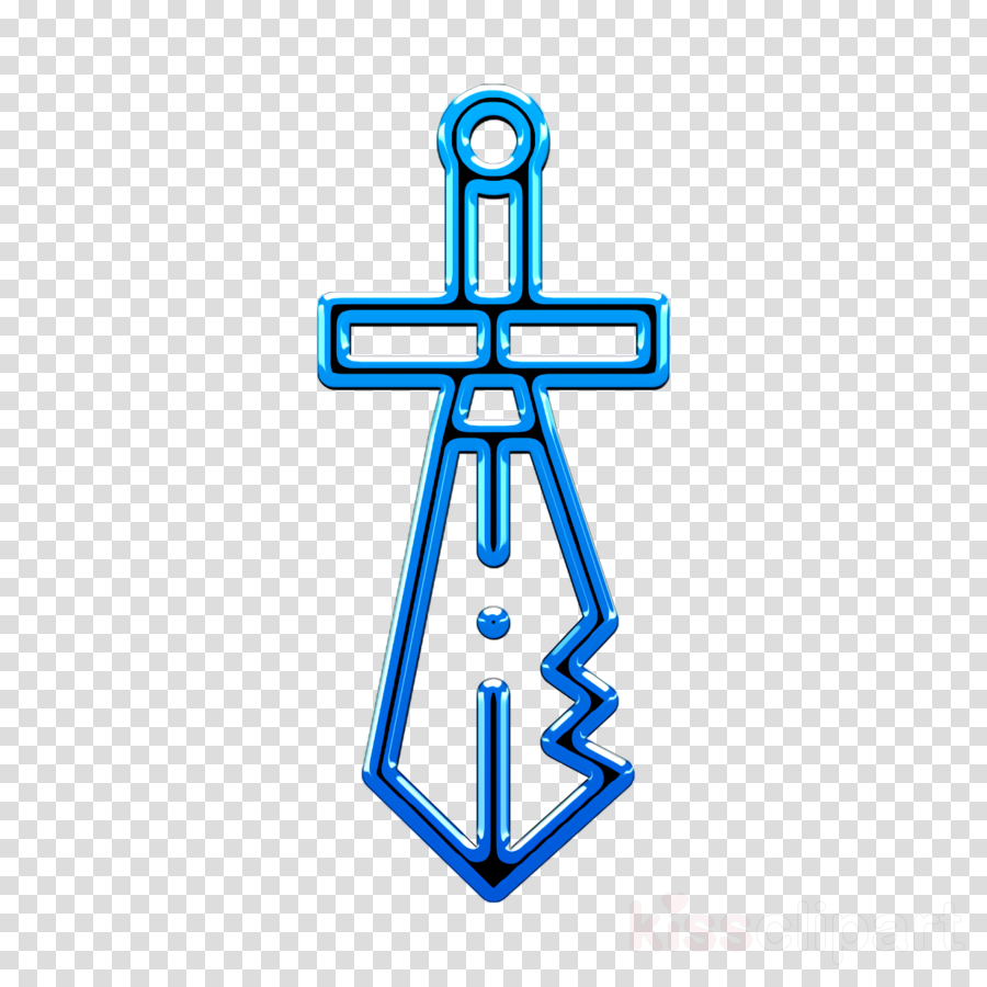 Archeology icon Sword icon clipart.