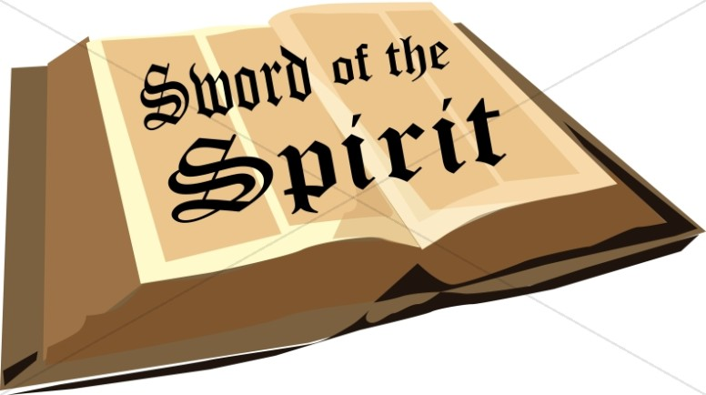 Bible and Sword of the Spirit.