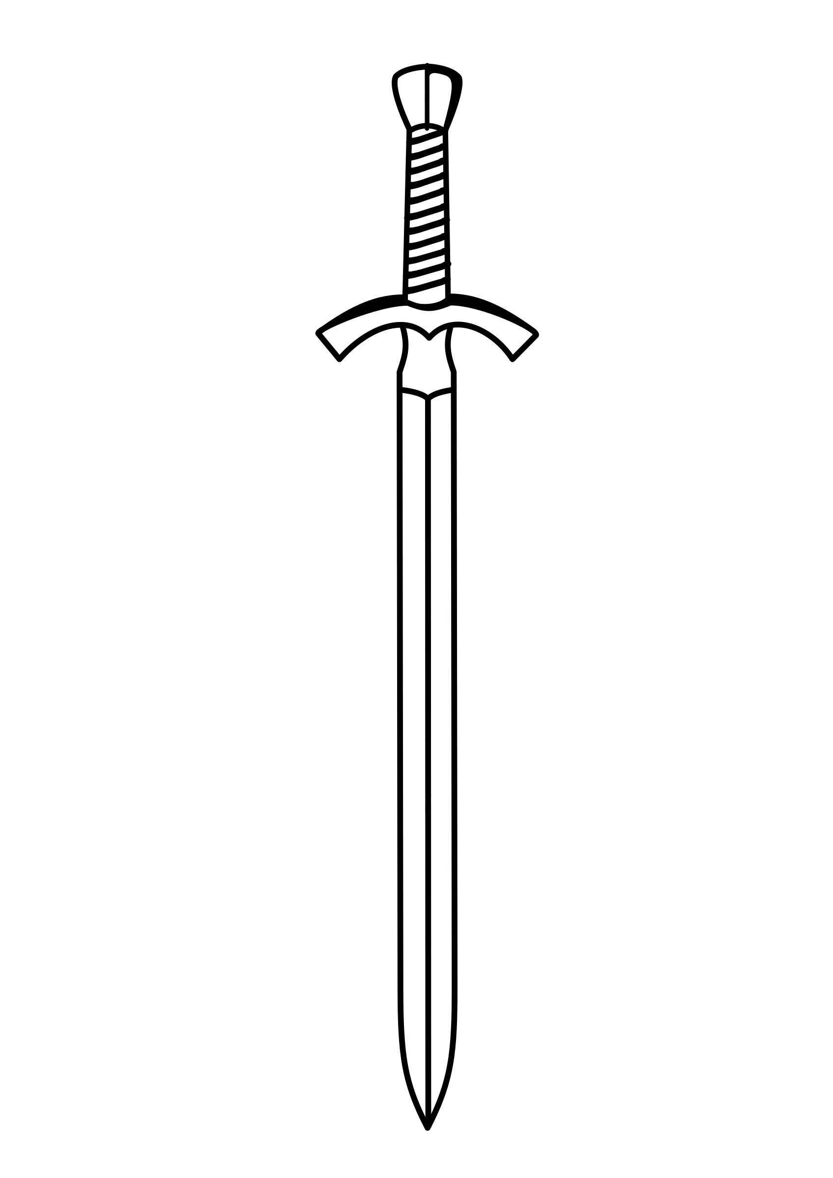 sword outline clipart - Clipground