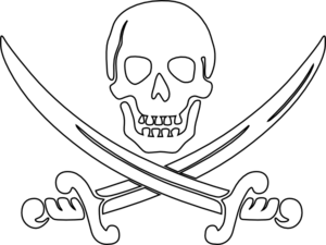 Pirate Swords Outline Clip Art at Clker.com.