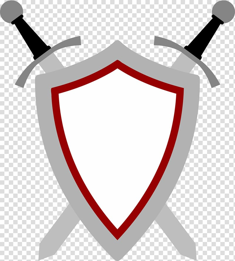White, gray, and black shield with sword , Sword Shield.