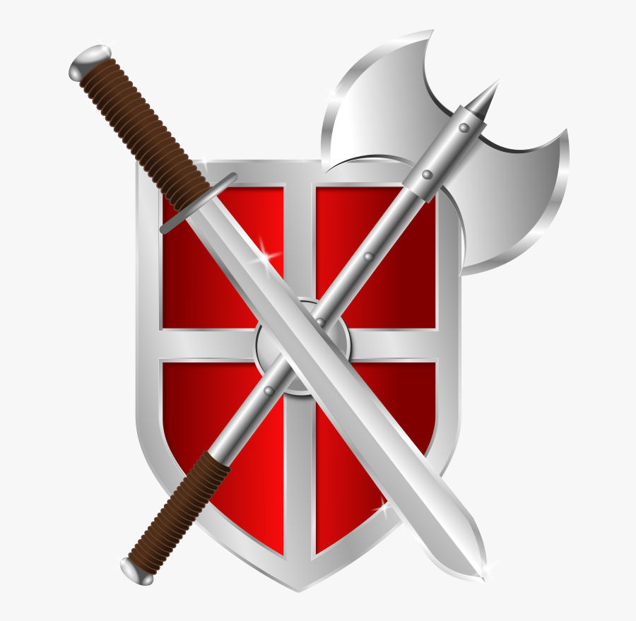 Shield And Sword Clipart , Png Download.