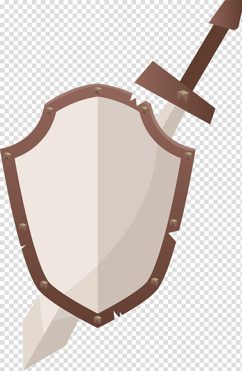 Shield Sword Icon, Shield transparent background PNG clipart.