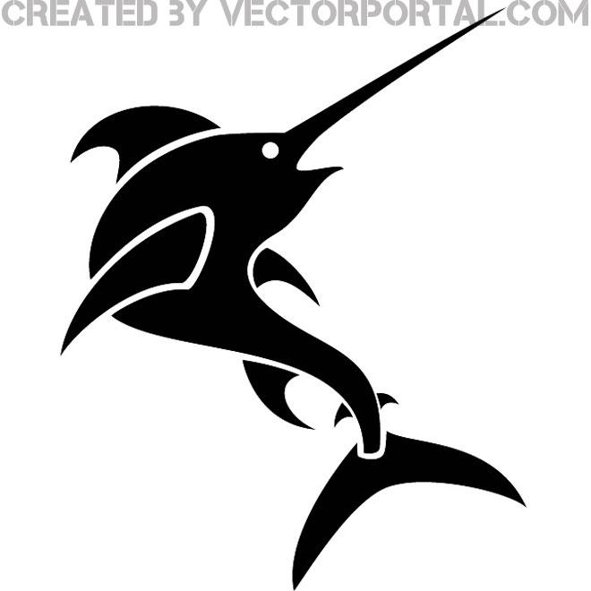 Swordfish Clip Art Image Free Vector.