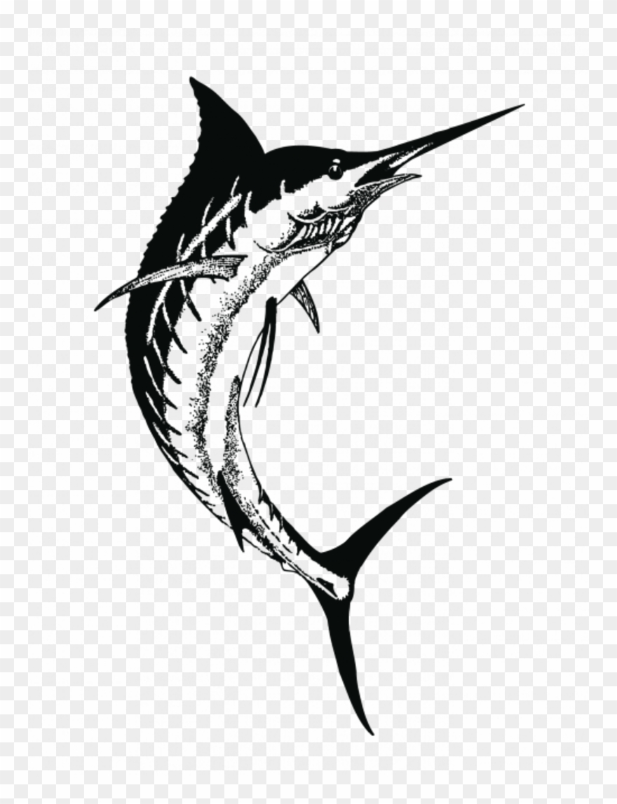 Drawing Clipart Swordfish Drawing Black And White.