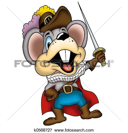 Stock Illustration of Mouse swordsman k0568727.