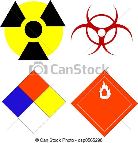 Stock Illustration of Scientific safety symbols.