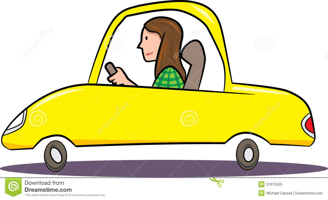 Driving Away Clipart.