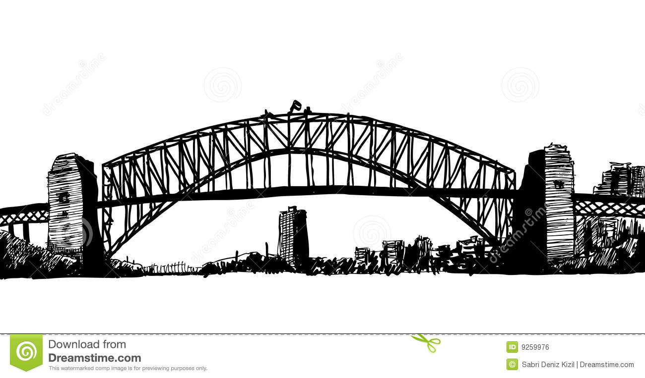 sydney bridge clipart