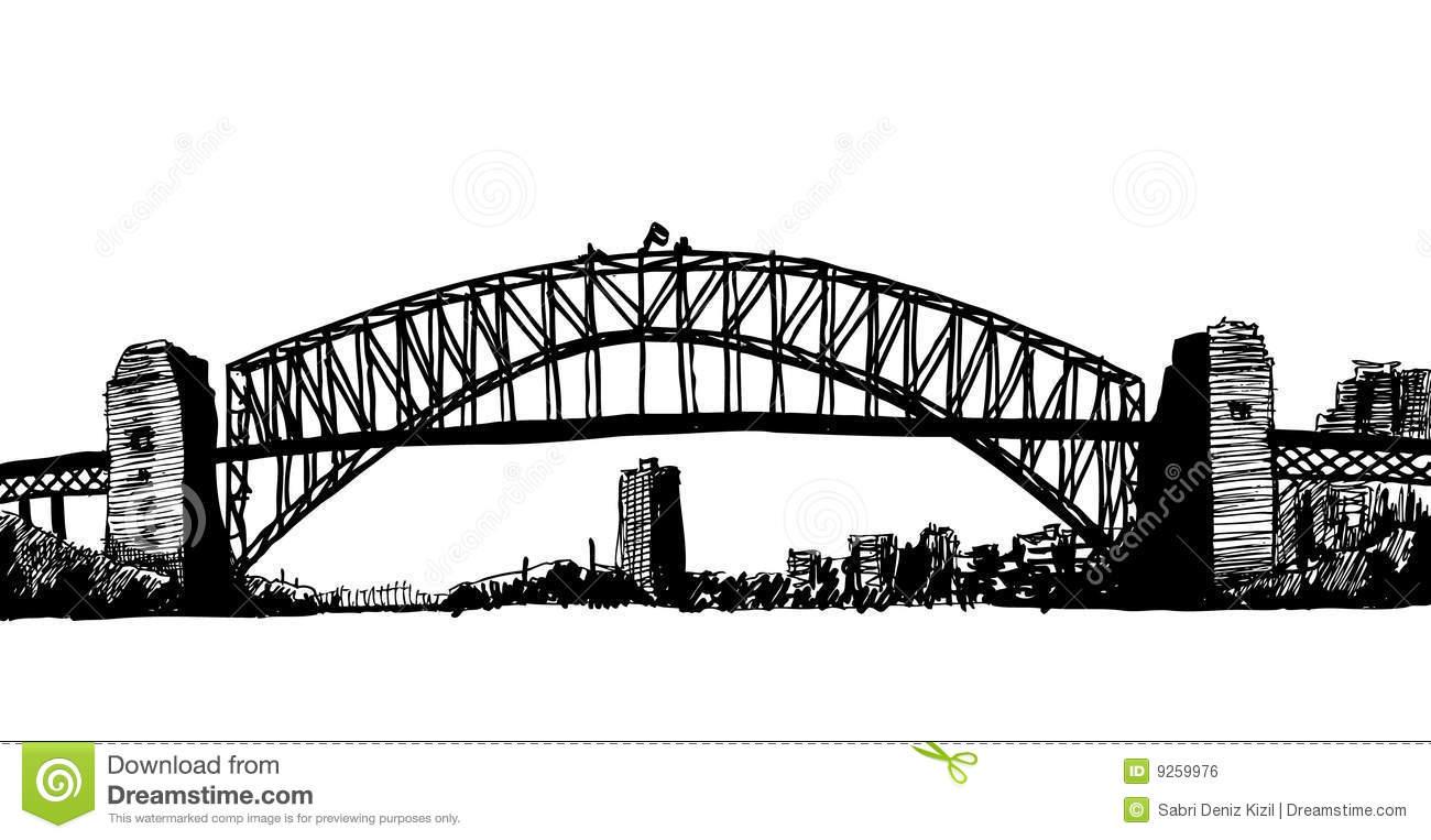Sydney Bridge Illustration Royalty Free Stock Image.