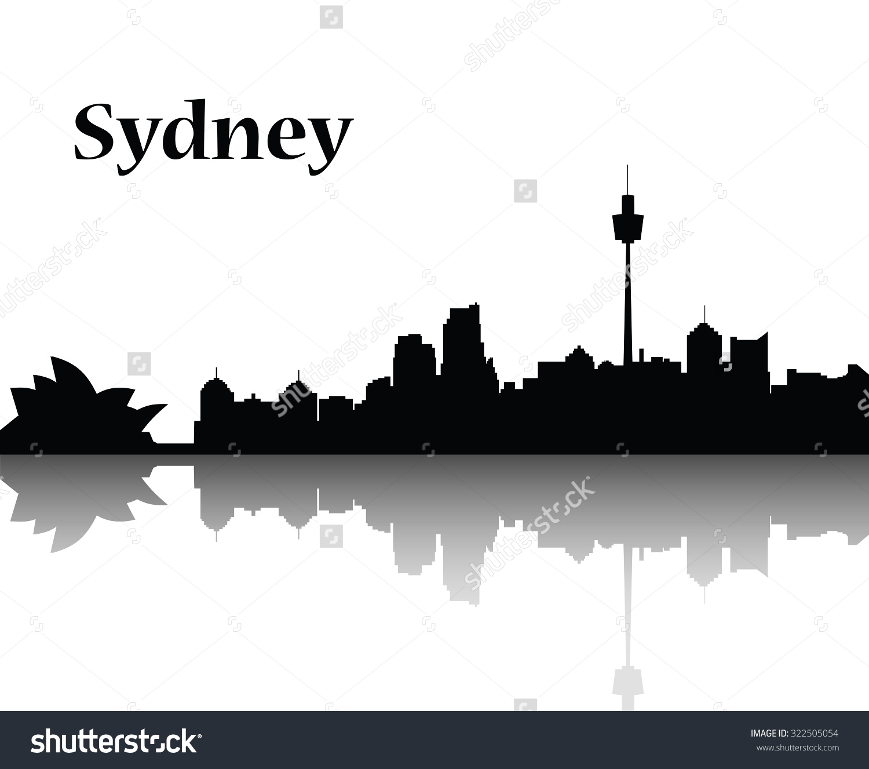 Sydney City Skyline Vector Flat Design Stock Vector 322505054.