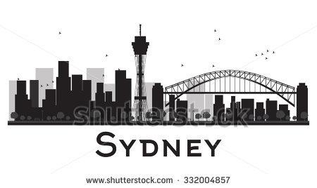 Black Sydney Silhouette Skyline Vector Stock Images, Royalty.