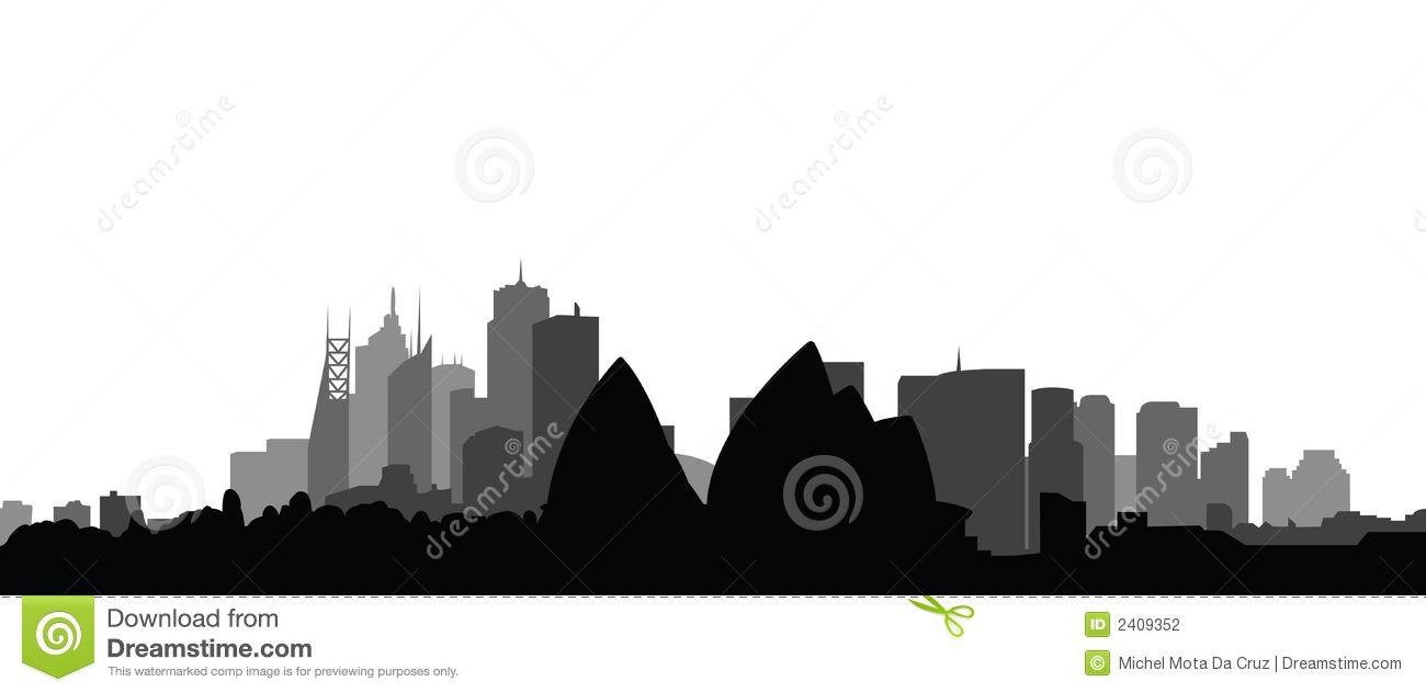 Skyline Sydney City Vector Stock Photography.