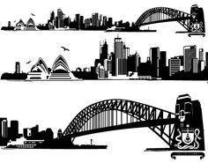 Sydney Skyline Wall Sticker.