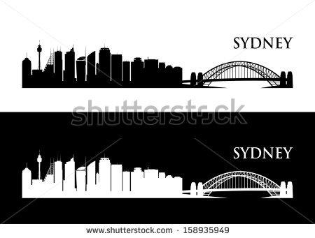 Sydney Skyline Stock Images, Royalty.