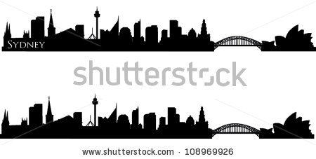 Sydney Black And White Stock Vectors, Images & Vector Art.