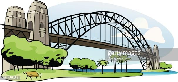 Sydney Harbour Vector Art.