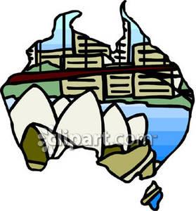 Sydney Harbour Bridge and the Sydney Opera House.