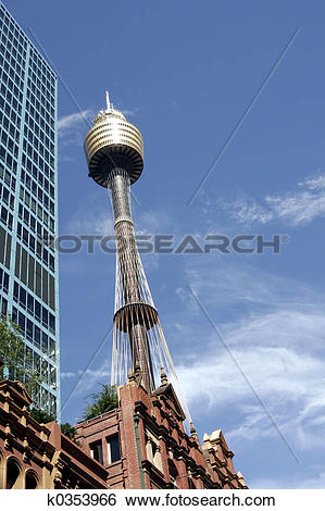Stock Images of Sydney Tower k0353966.