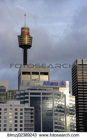 "Stock Photo of ""Sydney Tower, AMP television tower, Central."