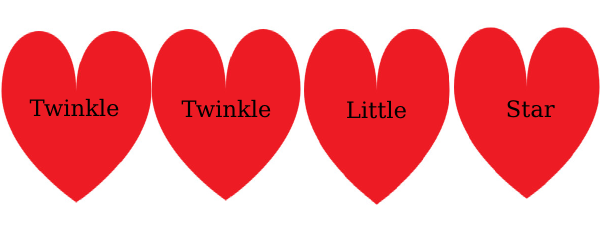 Twinkle Twinkle Hearts Clip Art at Clker.com.
