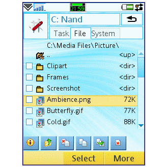 Swiss Manager Free for Symbian.