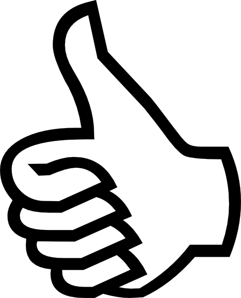 Symbol Thumbs Up clip art (109674) Free SVG Download / 4 Vector.