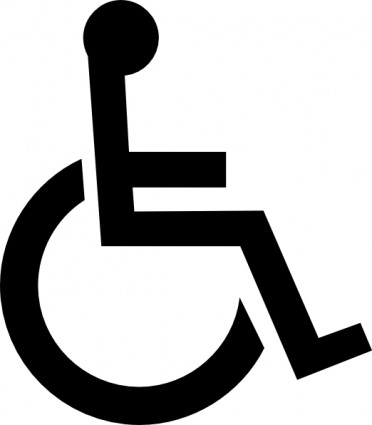 Wheelchair Symbol clip art.