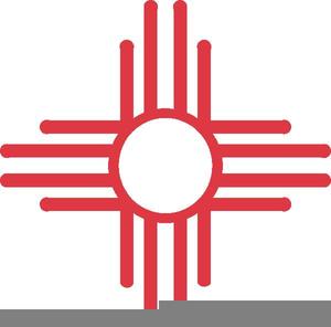 Zia Sun Symbol Clipart.