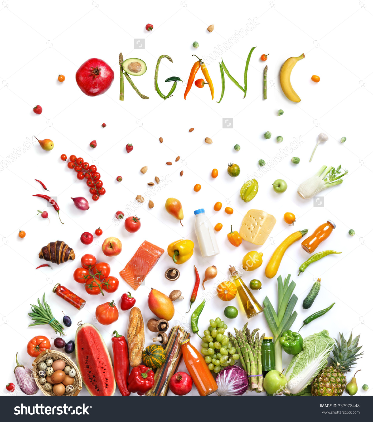 Organic Food Choice Healthy Food Symbol Stock Photo 337978448.