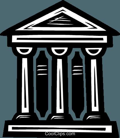 bank symbol Royalty Free Vector Clip Art illustration.