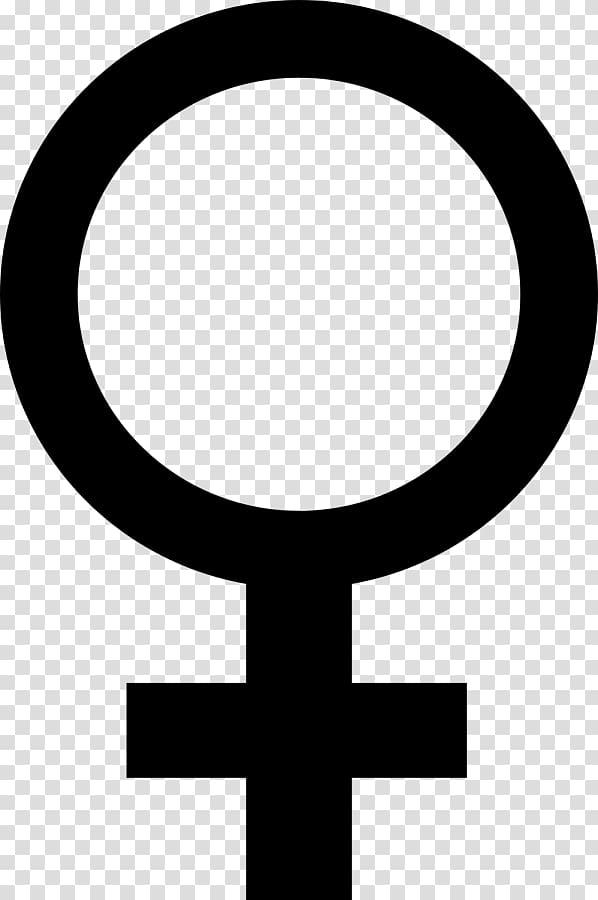 Gender symbol Female Sign Venus, symbol transparent.