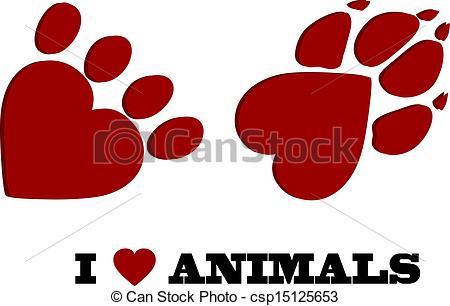 I Love Animals Clipart.