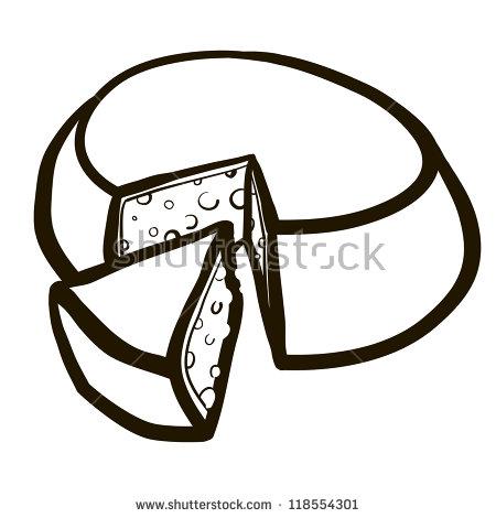 Cut Out Goat Cheese Wheel Cartoon Stock Vector 118554301.
