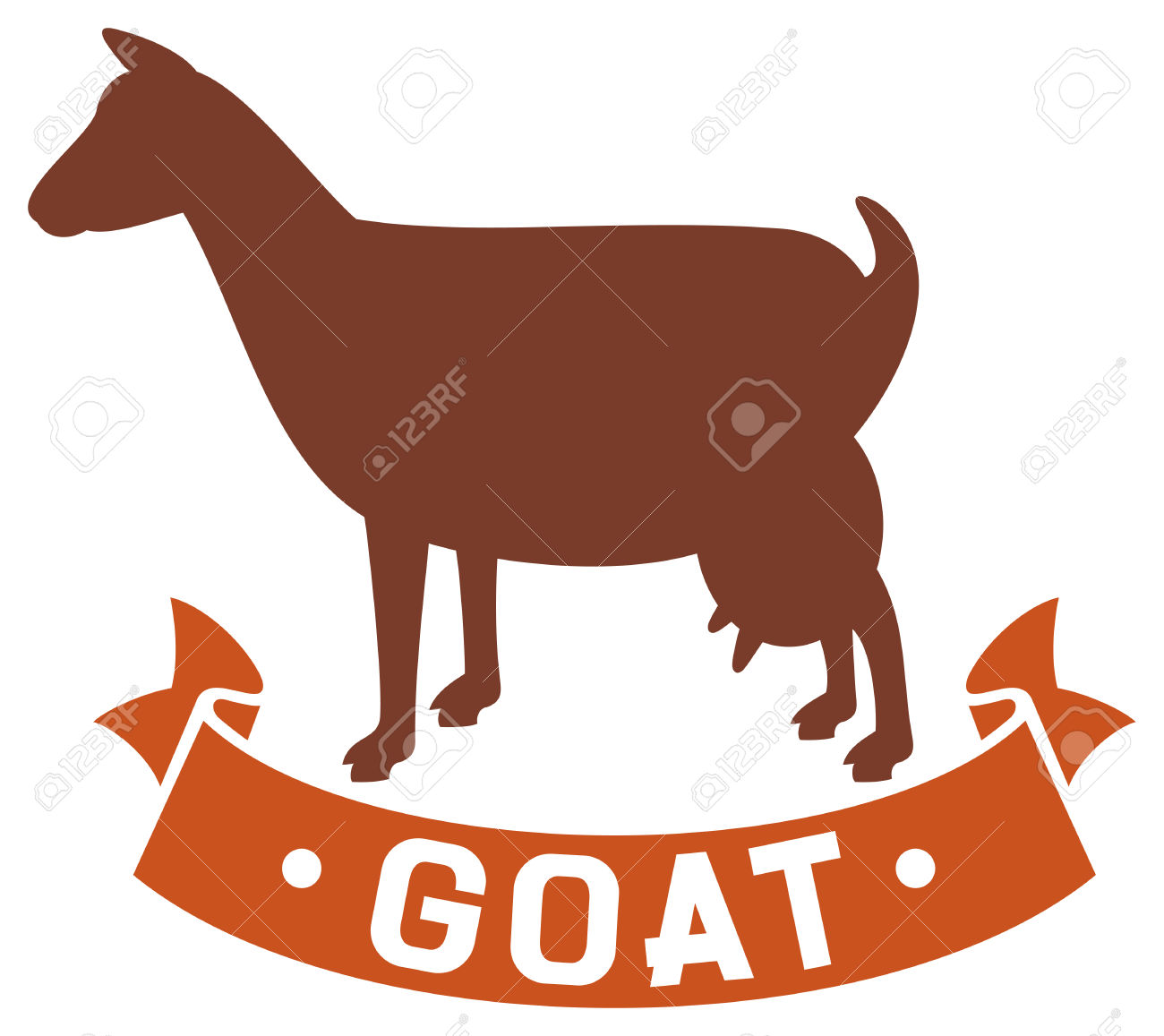 Goat Symbol Goat Icon Royalty Free Cliparts, Vectors, And Stock.