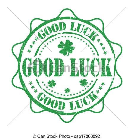 EPS Vectors of Good luck stamp.