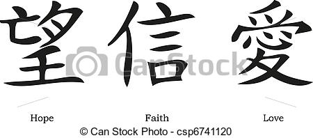 Faith hope and love symbols clipart.