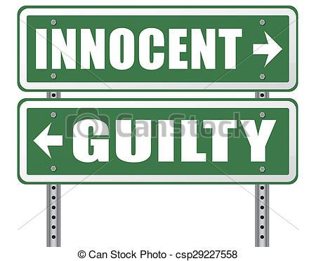 Stock Illustrations of innocent or guilty presumption of innocence.