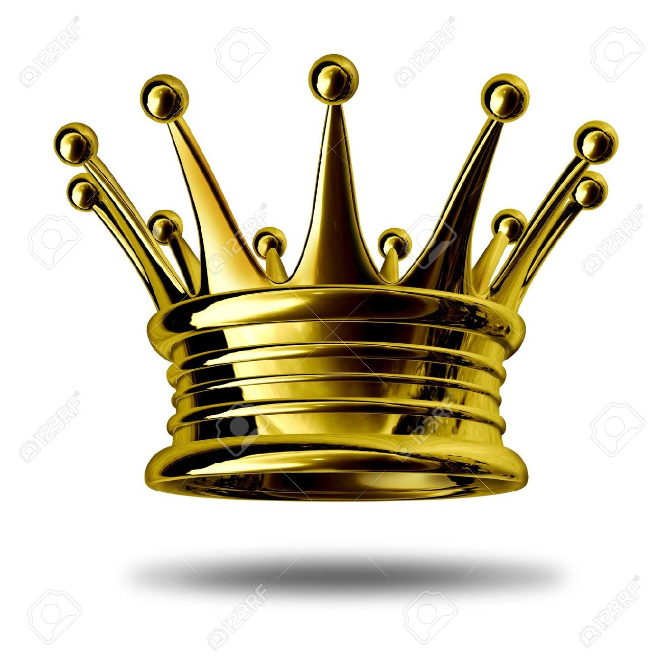 Gold Crown Representing Royalty And Wealth As An Award Symbol.
